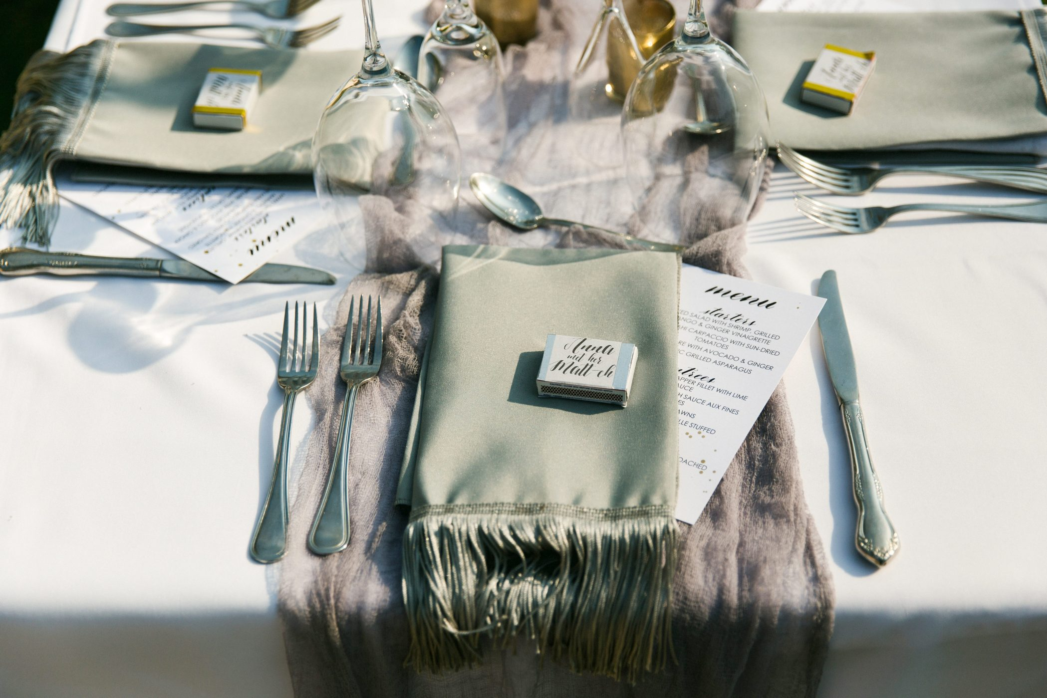 AnnaRose+Matt Wedding - Place Setting with Menu