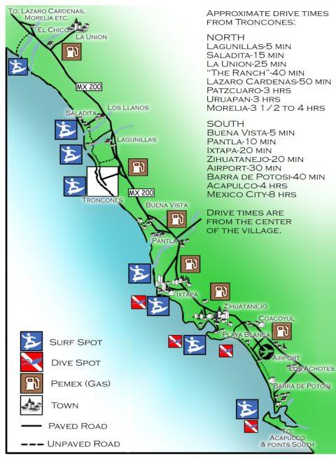 Troncones Map