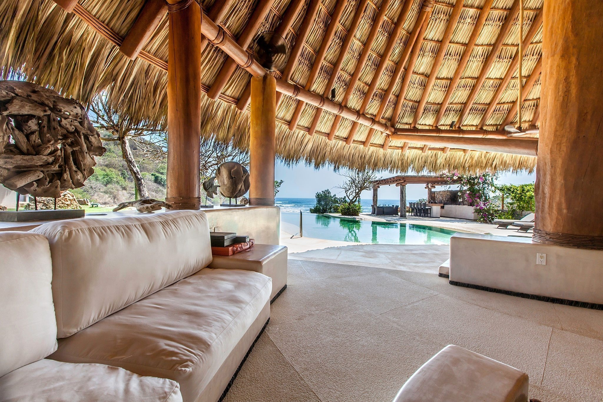 Palapa Seating with a View