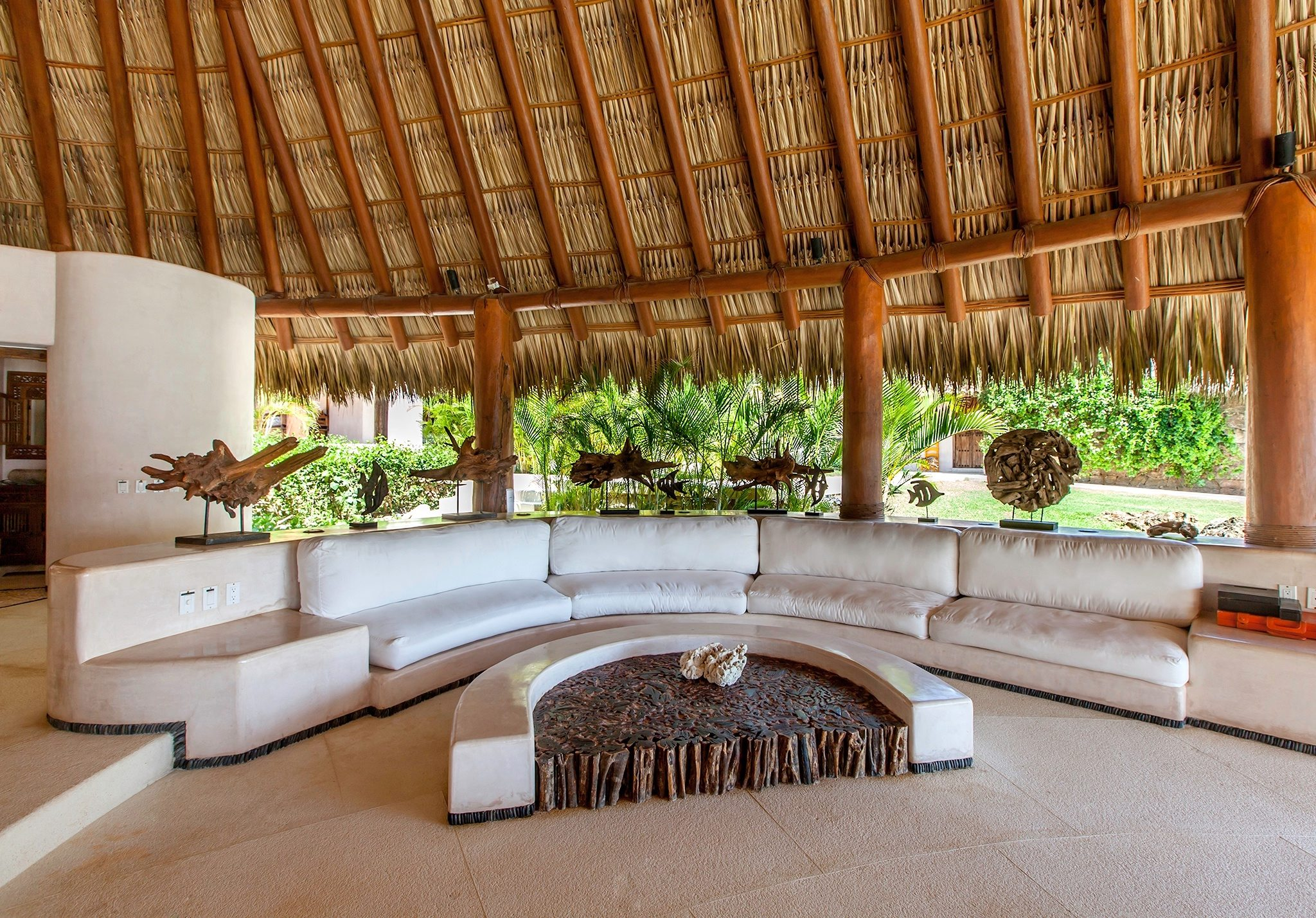 Palapa Seating with Firepit